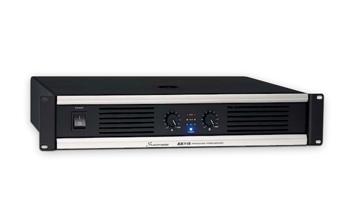 Studiomaster AX series power amplifier right side angle alpha