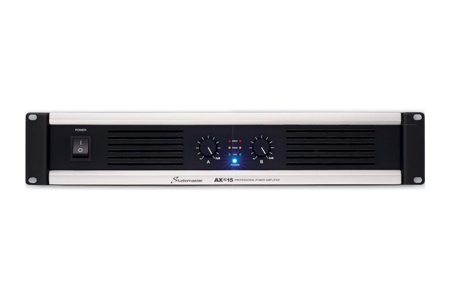 Studiomaster AX series power amplifier front view
