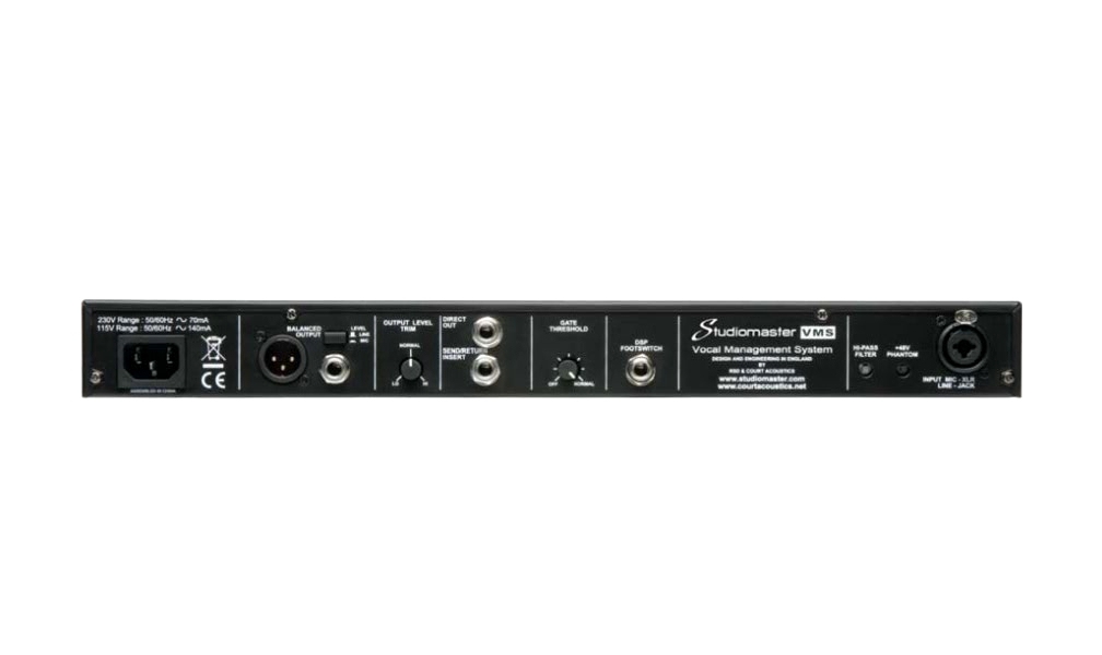 Studiomaster VMS rear panel
