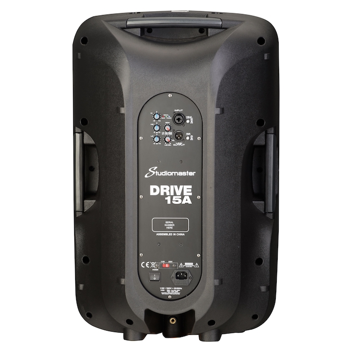 Studiomaster Drive 15A speaker cabinet rear
