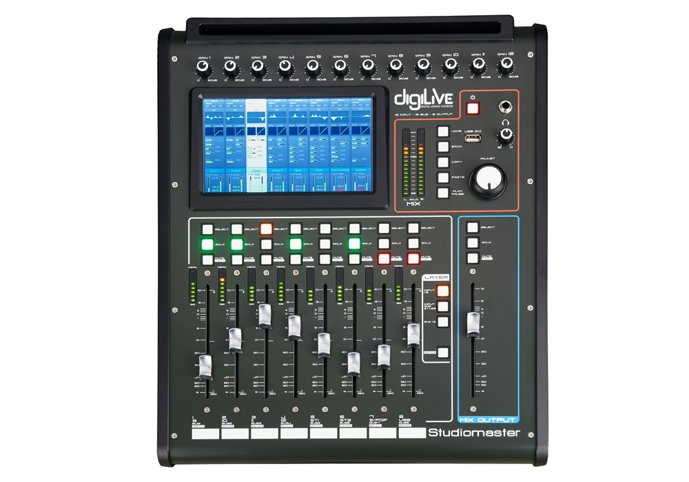 Studiomaster Digilive 16 console front view