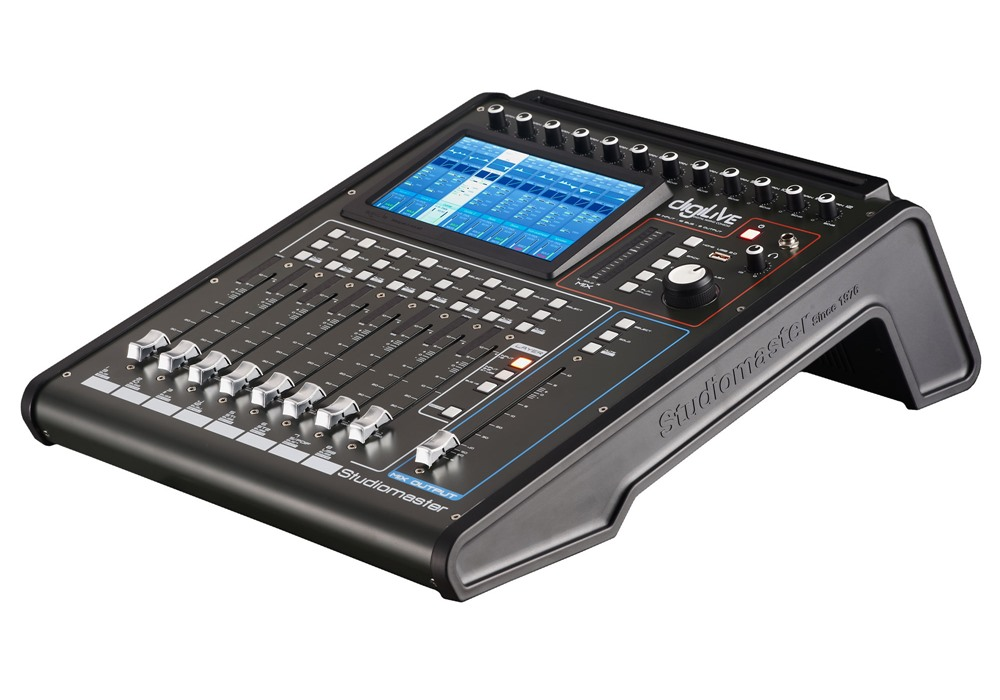 Studiomaster Digilive16 console sidel view