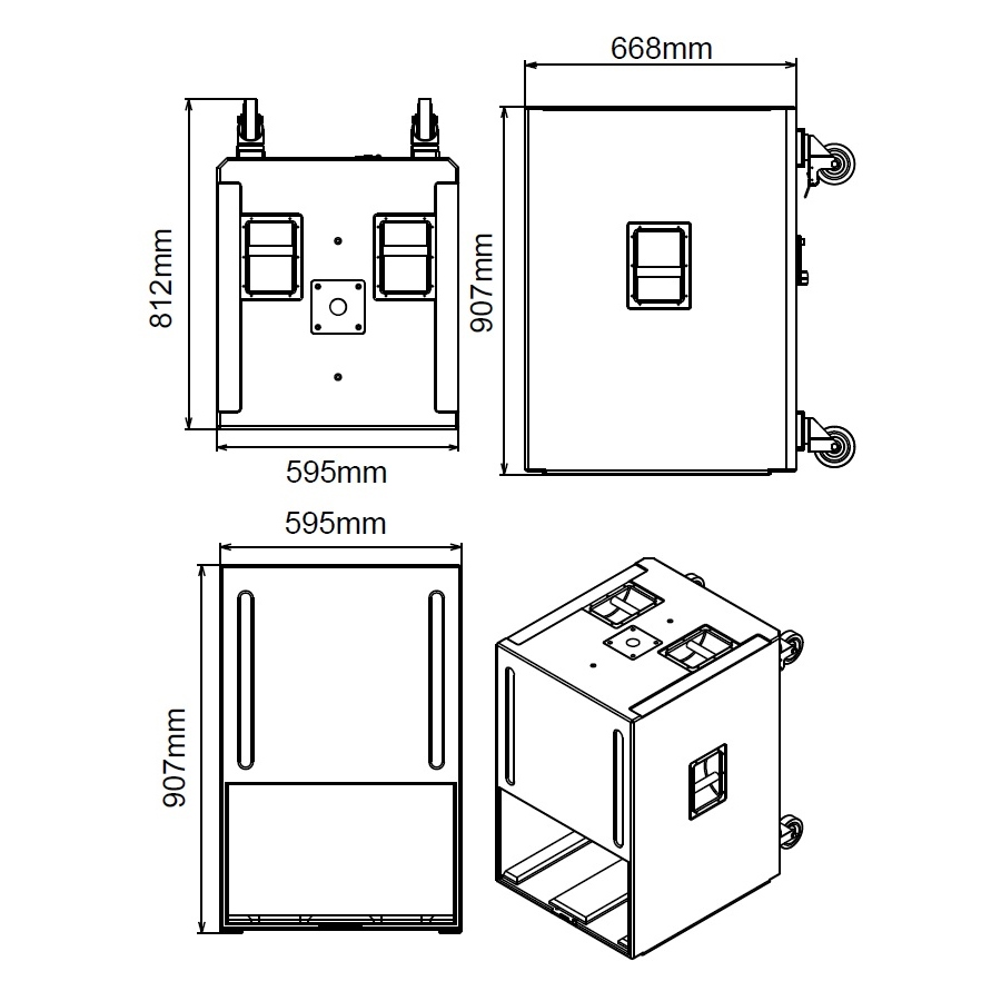 Studiomaster Platform 18SA Dimensions