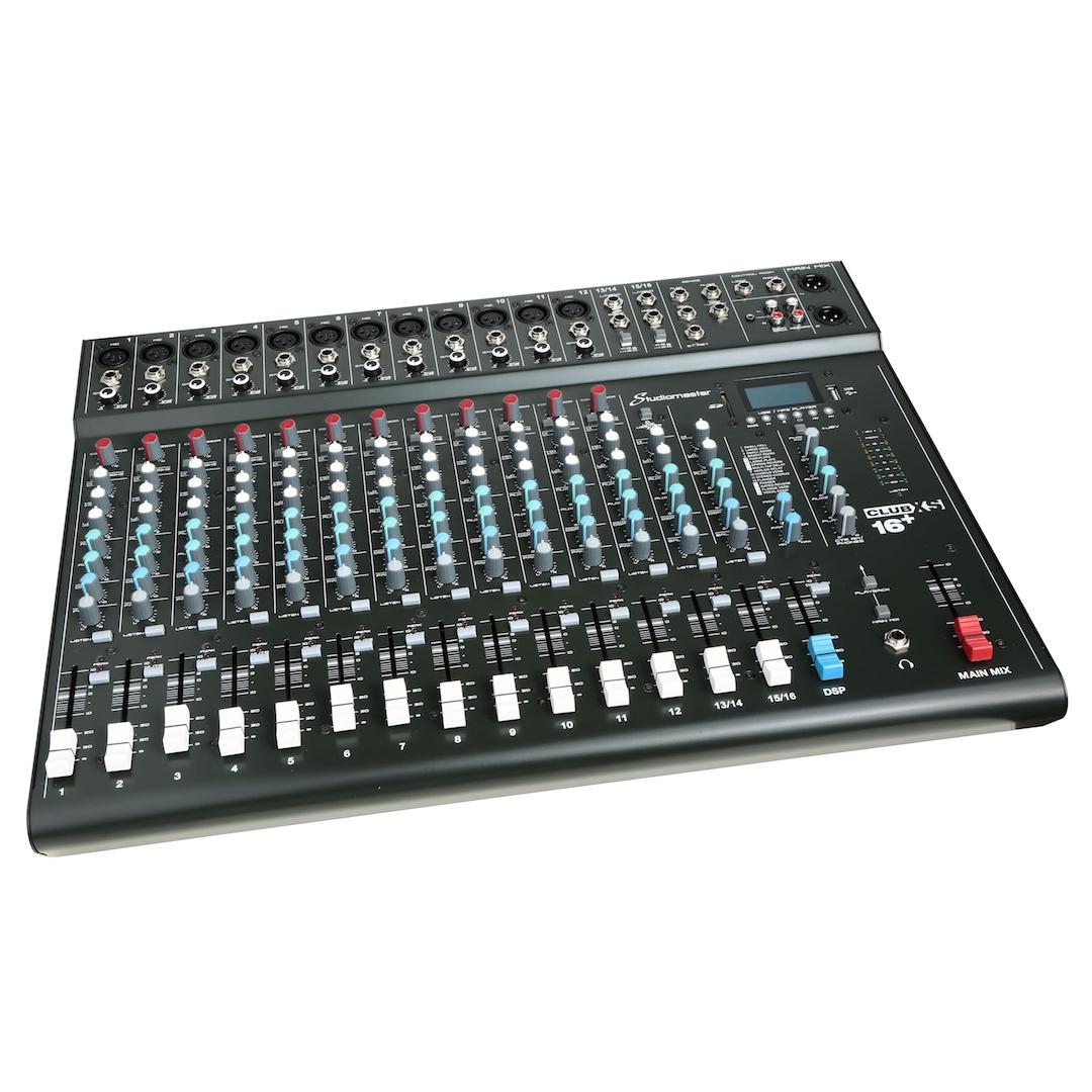 Studiomaster Club XS16+ mixer left