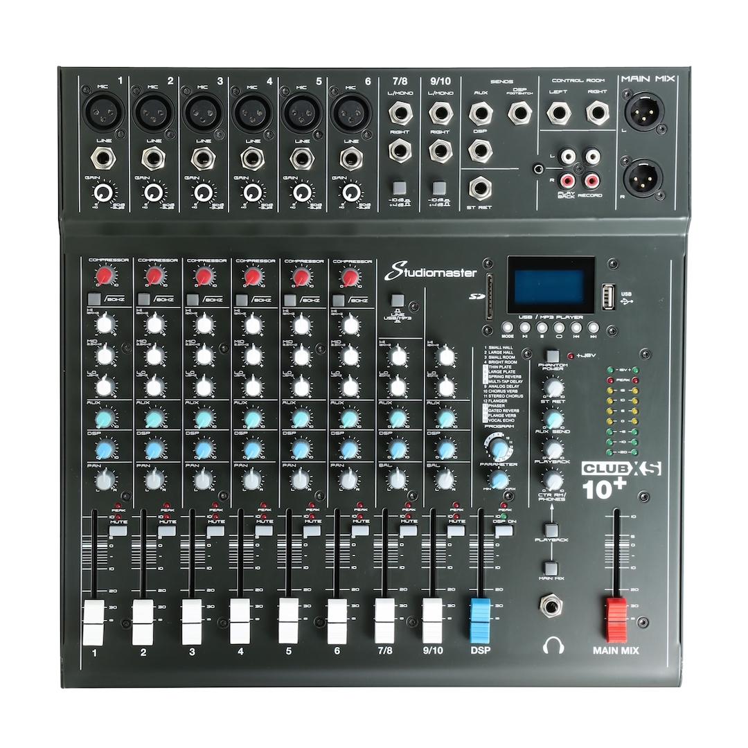 Studiomaster Club xs 10+ mixer front