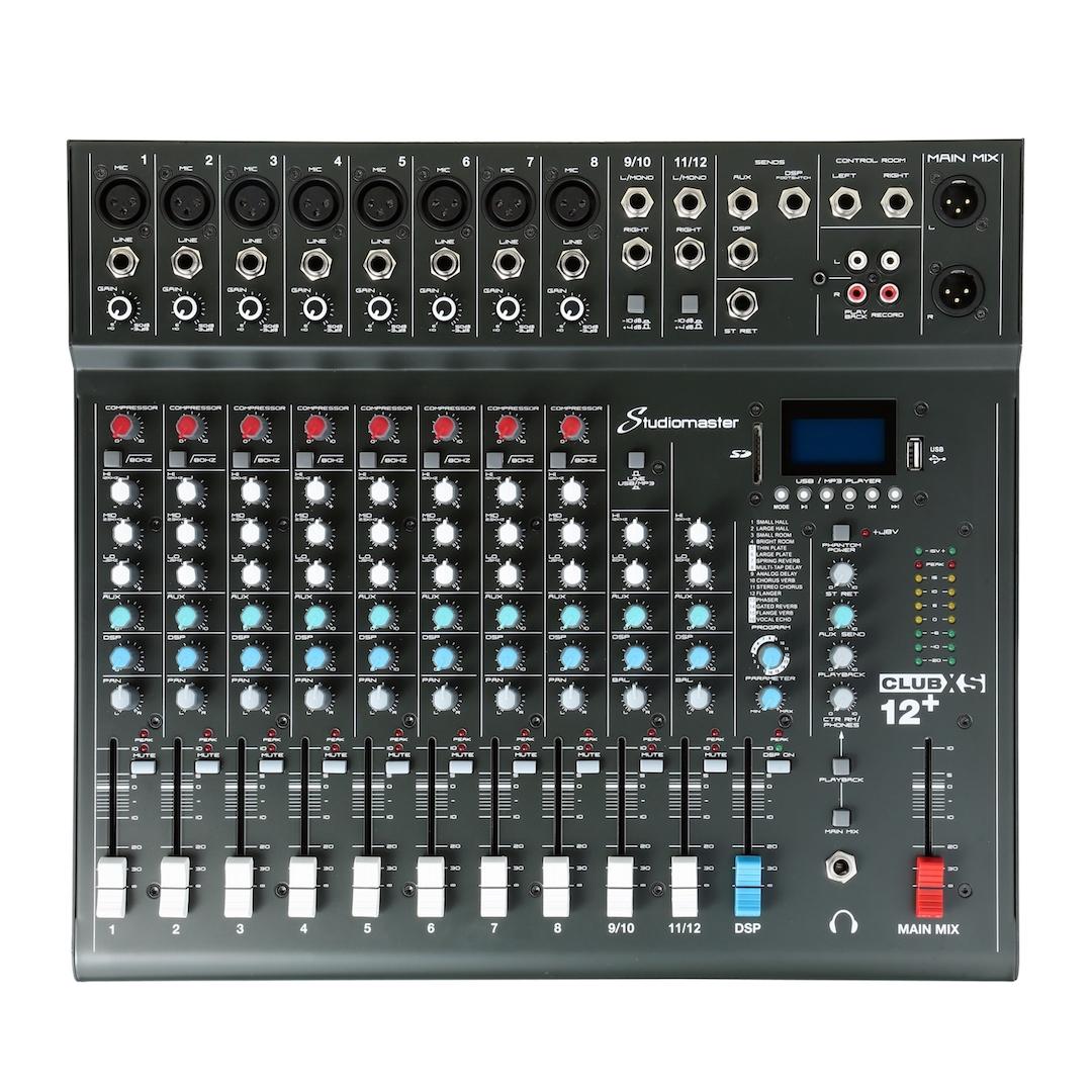 Studiomaster Club xs 12+ mixer front