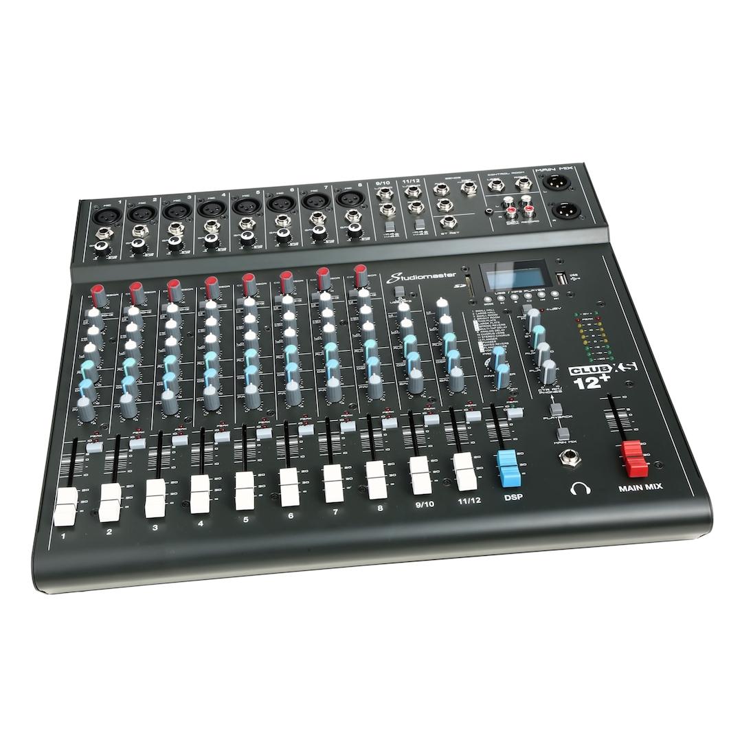 Studiomaster Club xs 12+ mixer left