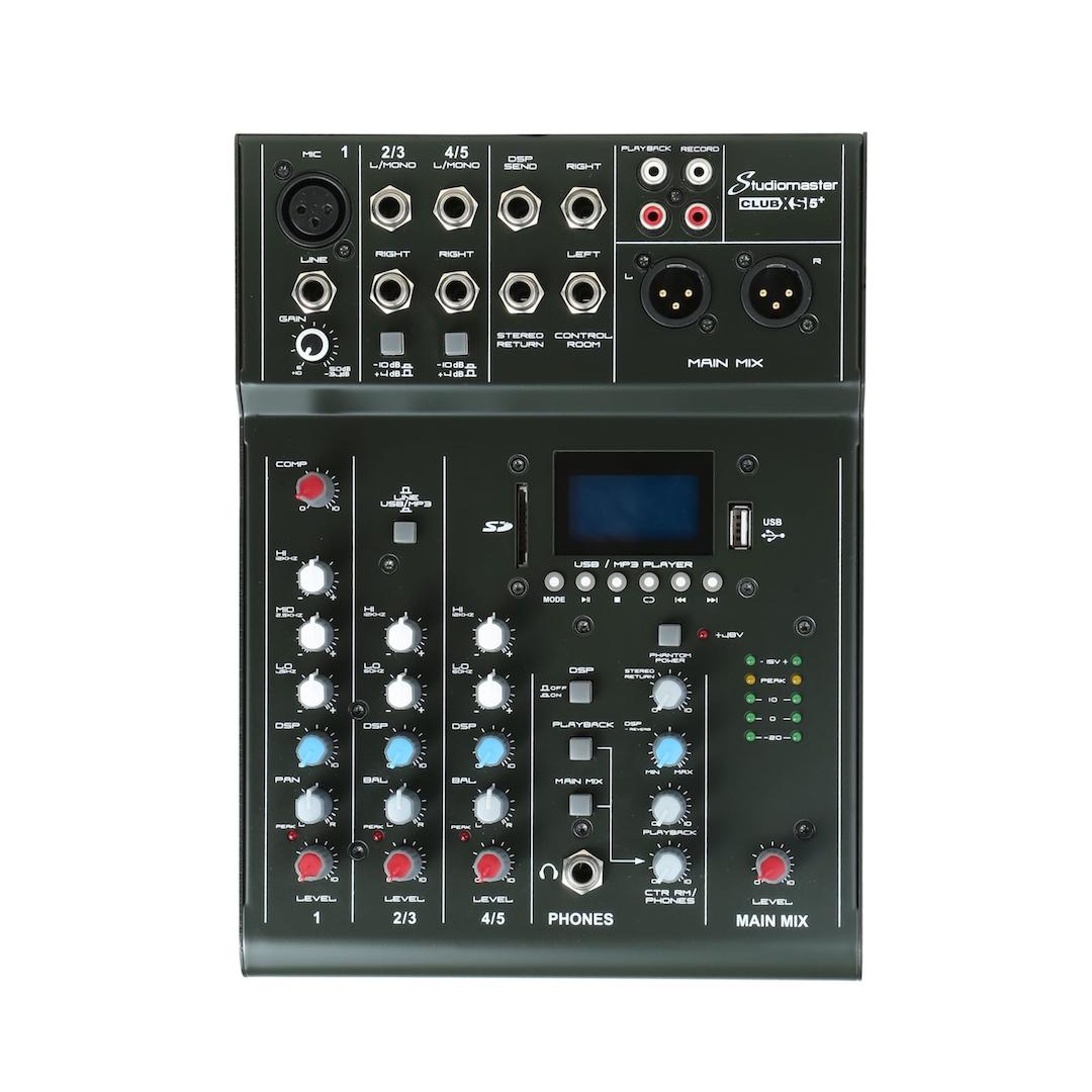 Studiomaster Club xs 5+ mixer front