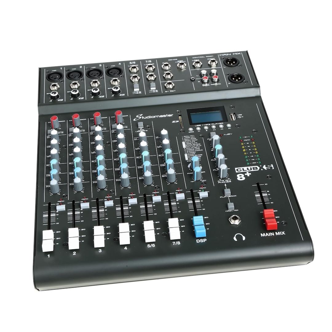 Studiomaster Club xs 8+ mixer left