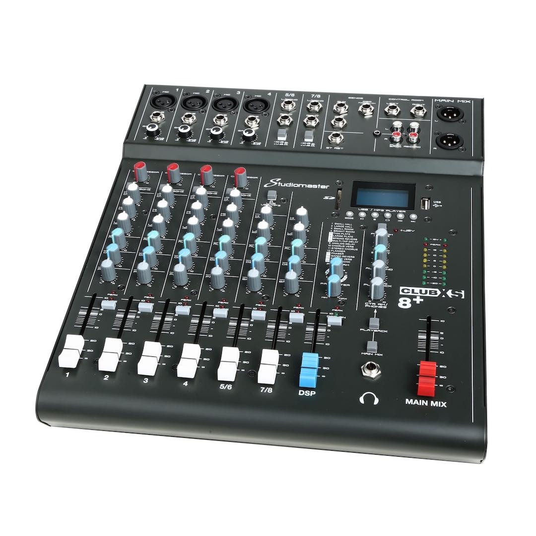 Studiomaster Club xs 8+ mixer right