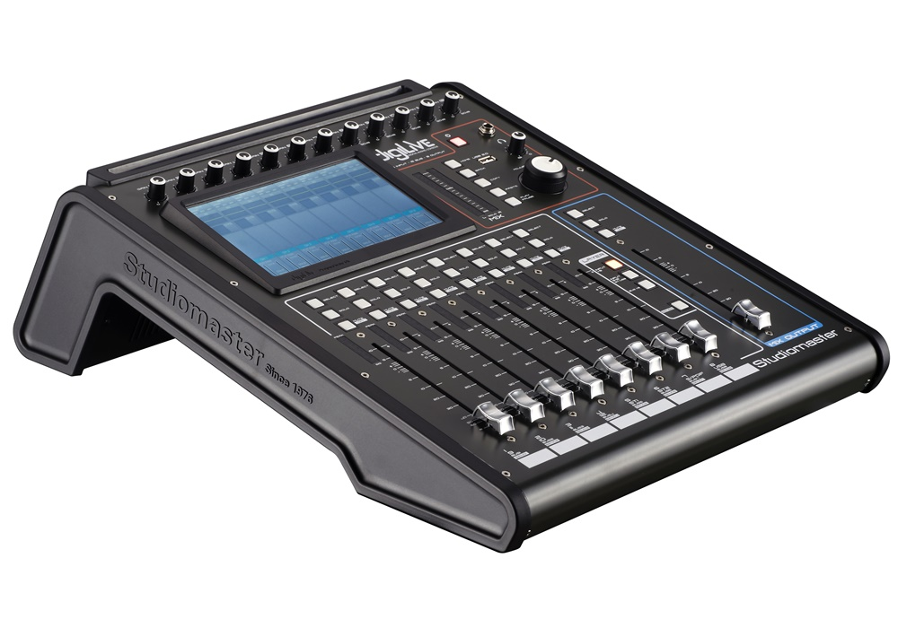 Studiomaster Digilive 16 console left side view