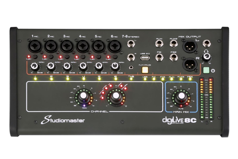 Studiomaster Digilive 8C front panel