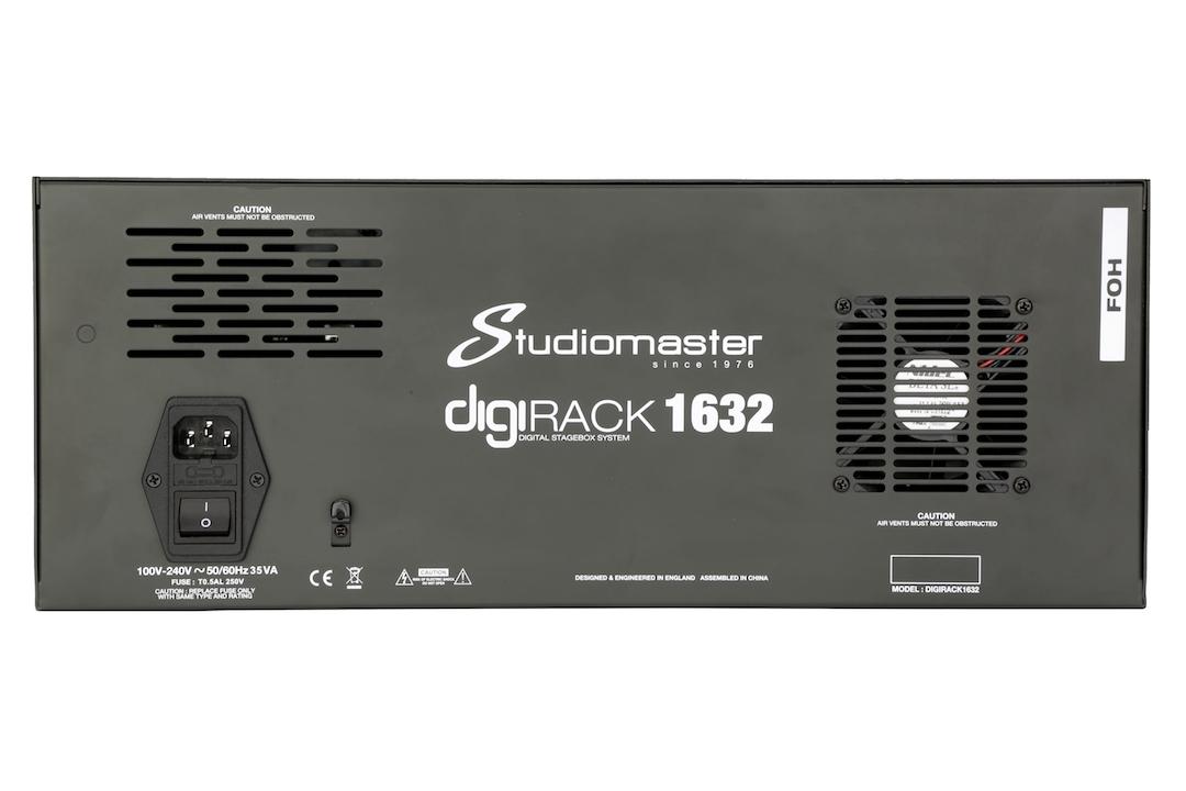 Studiomaster Digirack 1632 FOH back