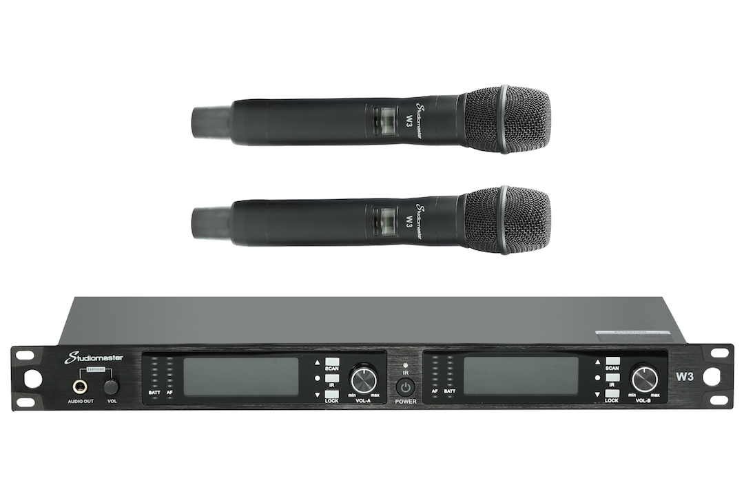 Studiomaster W3 wireless microphone set 2
